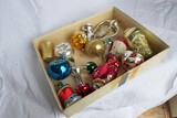 Group lot of Misc. Blown Glass Feather Tree Ornaments