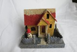 Coconut Flossing Putz Christmas Garden House
