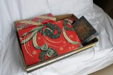 Box of vintage Christmas boxes etc