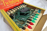Set of vintage twinkle Christmas lights with transformer