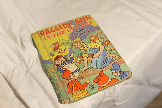 Raggedy Ann in the Garden Antique Book