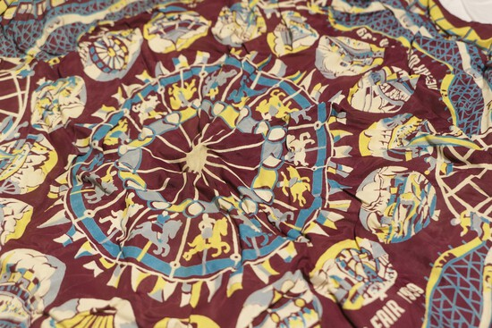 Nice 1939 World's Fair Silk Handkerchief
