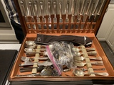 Group of Nicer Silver plate Flatware in Case