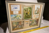 Framed Group of early 1900s Lithographed School Awards of Merit