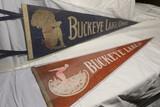 2 Antique Buckeye Lake Pennants