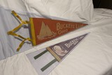 2 Smaller Antique Buckeye Lake Pennants