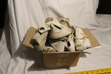 Box of old baby shoes