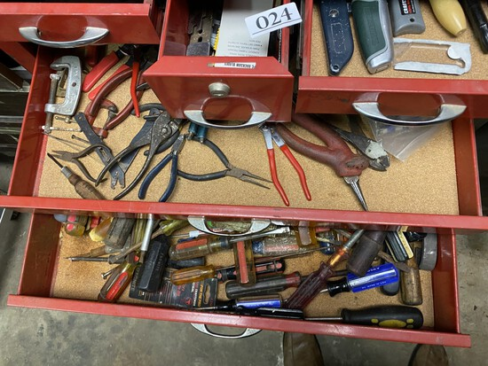 Contents of Waterloo tool box - huge qty of tools
