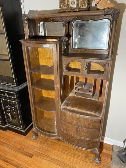 c. 1900 secretary  with shelves, mirror