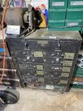 Vintage Metal Military Tool Cabinet w/Drawers