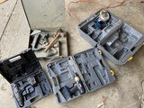 Group lot of tools including floor nailer
