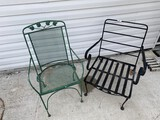 2 Vintage metal outdoor chairs