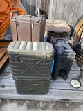 Military issue insulated food holder, coffee tanks