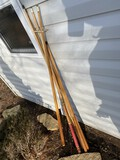 Group lot of pool sticks