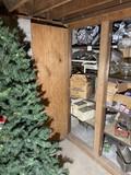 Contents of cupboard plus xmas tree
