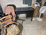 2 Fans, Desk, office chair, rocker