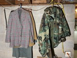 Army Camo Jacket, vintage clothing lot