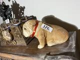 Bulldog Puppy Statue Sandicast by Sandra Brue