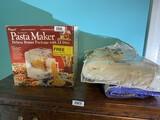 Heating blanket, coverlet (newer), pasta maker