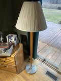 Vintage Retro Lamp w/Tapered wooden stand