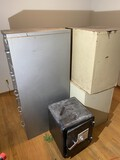 3 metal file cabinets and smaller safe