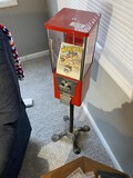 Vintage Commercial Gumball Machine with Heavy Base
