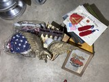 Group lot of ,imsc items, Military, Corvette, Flags etc