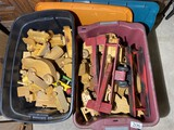 2 Large Totes of Vintage wooden toys