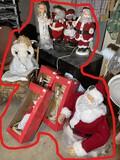 Group lot 80s Vintage Christmas, Santa Claus items etc