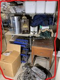 Large Metal Shelf Unit, Misc. Catering Items etc