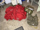 Large Vintage 1970s Red Cloth Military Parachute
