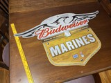 Budweiser US Marines Metal Sign