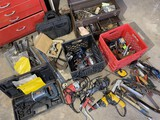 Large group lot assorted tools pictured