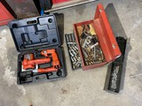 Rechargeable tools, tool box, ammo box, contents