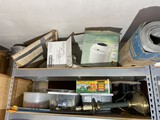 2 Shelves assorted items