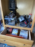 Scroll saw, lights, heather, tools and more lot