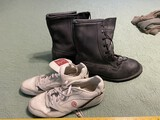 Leather tactical type boots + golf shoes