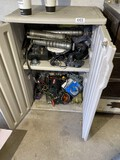 Plastic storage cabinet and contents