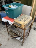 Metal cart and contents lot