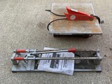 Tile cutter and Chicago wet saw