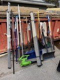 Group lot assorted hand tools, blower