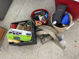 Group lot assorted tools, strap and more