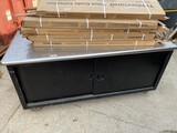 Very Large Rolling Metal Restaurant Cabinet Table