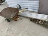 Scaffolding section, wheelbarrow, dolly cart