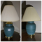 Pair of vintage blue ceramic lamps