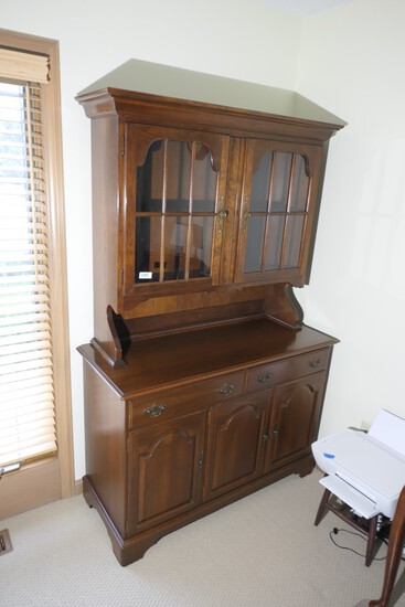 Cherry Wood Vintage Hutch