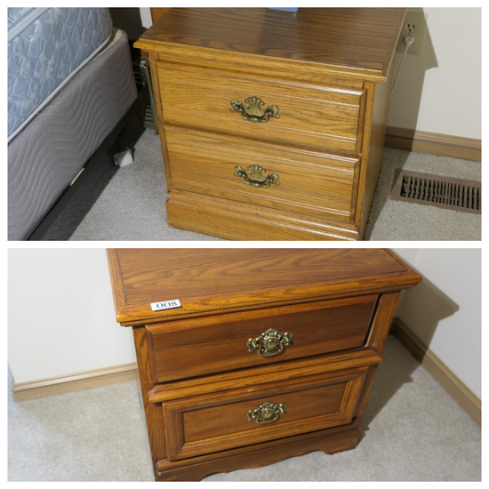 2 Oak Nightstands or Lamp Tables