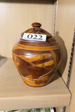 Carved Wooden Tobacco Jar