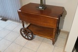 Vintage Maple Tea Caddy Cart