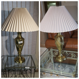 Pair of nicer vintage brass lamps